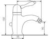 Схема Смеситель для биде Giulini Harmony 9507A Современный / Скандинавский / Модерн