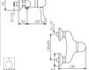 Схема Смеситель настенный Giulini Harmony 9508 Современный / Скандинавский / Модерн