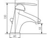 Схема Смеситель для раковины Giulini Kometa 8405A Современный / Скандинавский / Модерн