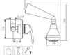 Схема Душевая система Giulini Kometa 8415WB Современный / Скандинавский / Модерн