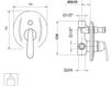 Схема Встраиваемый смеситель Giulini Kometa 8411 Современный / Скандинавский / Модерн