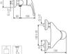 Схема Смеситель настенный Giulini Infinito 8508WD Современный / Скандинавский / Модерн