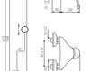 Схема Смеситель настенный Giulini Infinito 8508WS Современный / Скандинавский / Модерн