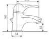 Схема Смеситель для раковины Giulini Roma 2605A Современный / Скандинавский / Модерн