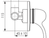 Схема Встраиваемый смеситель Giulini Roma 2615 Современный / Скандинавский / Модерн