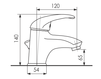 Схема Смеситель для раковины Giulini Kellygreen 2905A Современный / Скандинавский / Модерн