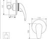 Схема Встраиваемый смеситель Giulini Kellygreen 2915 Современный / Скандинавский / Модерн