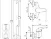 Схема Смеситель настенный Giulini Kellygreen 2908WS Современный / Скандинавский / Модерн