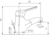 Схема Смеситель для раковины Giulini Kelly 2522A Современный / Скандинавский / Модерн