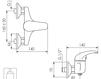 Схема Смеситель настенный Giulini Kelly 2508 Современный / Скандинавский / Модерн