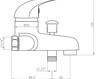Схема Смеситель настенный Giulini Giada 2201 Современный / Скандинавский / Модерн