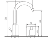 Схема Смеситель для раковины Giulini G3 7612A Современный / Скандинавский / Модерн