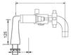 Схема Смеситель для ванны Giulini G5 7901CB Современный / Скандинавский / Модерн