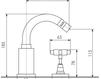 Схема Смеситель для биде Giulini G5 7945A Современный / Скандинавский / Модерн