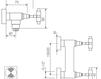 Схема Смеситель настенный Giulini G5 7907 Современный / Скандинавский / Модерн