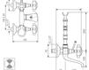 Схема Смеситель настенный Giulini Kensington 3701L Современный / Скандинавский / Модерн