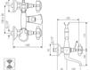 Схема Смеситель настенный Giulini Kensington 3700 Современный / Скандинавский / Модерн