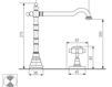 Схема Смеситель для раковины Giulini Kensington 3706A Современный / Скандинавский / Модерн