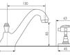 Схема Смеситель для раковины Giulini Kensington 3712A Современный / Скандинавский / Модерн
