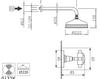 Схема Душевая система Giulini Kensington 3715WB Современный / Скандинавский / Модерн