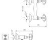 Схема Смеситель настенный Giulini Kensington 3707 Современный / Скандинавский / Модерн