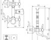 Схема Смеситель настенный Giulini Praga 7501 Современный / Скандинавский / Модерн
