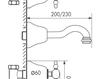Схема Смеситель для раковины Giulini Praga 7522 Современный / Скандинавский / Модерн