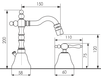 Схема Смеситель для биде Giulini Praga Crystal 7545A/S Современный / Скандинавский / Модерн