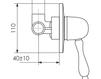 Схема Встраиваемый смеситель Giulini Praga 7515 Современный / Скандинавский / Модерн