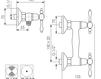 Схема Смеситель настенный Giulini Praga 7507 Современный / Скандинавский / Модерн
