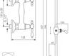 Схема Смеситель настенный Giulini Praga 7507WS Современный / Скандинавский / Модерн