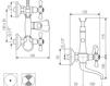 Схема Смеситель настенный Giulini Lotus 0501 Современный / Скандинавский / Модерн