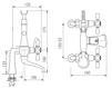 Схема Смеситель для ванны Giulini Lotus 0500CB Современный / Скандинавский / Модерн