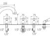 Схема Смеситель для ванны Giulini Lotus 0565 Современный / Скандинавский / Модерн