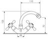 Схема Смеситель для биде Giulini Lotus SA558 Современный / Скандинавский / Модерн