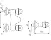 Схема Смеситель настенный Giulini Persia Crystal 3807/S Современный / Скандинавский / Модерн