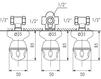 Схема Смеситель настенный Giulini Persia Crystal 3815W2/S Современный / Скандинавский / Модерн