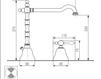 Схема Смеситель для раковины Giulini Praga Crystal 7512A/S Современный / Скандинавский / Модерн
