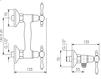 Схема Смеситель настенный Giulini Praga Crystal 7507WD/S Современный / Скандинавский / Модерн