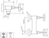 Схема Смеситель настенный Giulini G5 Crystal 7907WS/S Современный / Скандинавский / Модерн