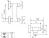 Схема Смеситель настенный Giulini GiÒ 3607WD Современный / Скандинавский / Модерн