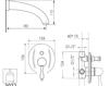 Схема Смеситель настенный Giulini Harmony Crystal 9503/S Современный / Скандинавский / Модерн