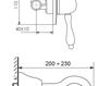 Схема Смеситель для раковины Giulini Harmony Crystal 9520/S Современный / Скандинавский / Модерн