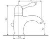 Схема Смеситель для раковины Giulini Harmony Crystal 9505A/S Современный / Скандинавский / Модерн