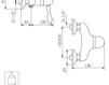Схема Смеситель настенный Giulini Harmony Crystal 9508/S Современный / Скандинавский / Модерн