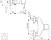 Схема Смеситель настенный Giulini Harmony Crystal 9508WD/S Современный / Скандинавский / Модерн