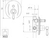 Схема Встраиваемый смеситель Giulini Hermitage Crystal 4413/S Современный / Скандинавский / Модерн