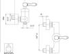 Схема Смеситель настенный Giulini Hermitage Crystal 4408/S Современный / Скандинавский / Модерн