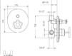 Схема Встраиваемый смеситель Giulini Gio Mix 3513 Современный / Скандинавский / Модерн
