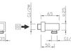 Схема Шланговое подключение Giulini Programma Docce 1510QD Современный / Скандинавский / Модерн